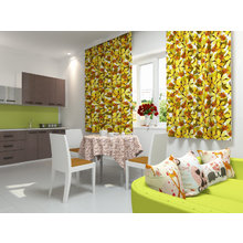 Кухонная скатерть: Бежевые цветы