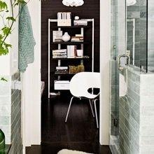 Фотография: Ванная в стиле Скандинавский, Дом, Цвет в интерьере, Дома и квартиры, Белый, Черный – фото на InMyRoom.ru