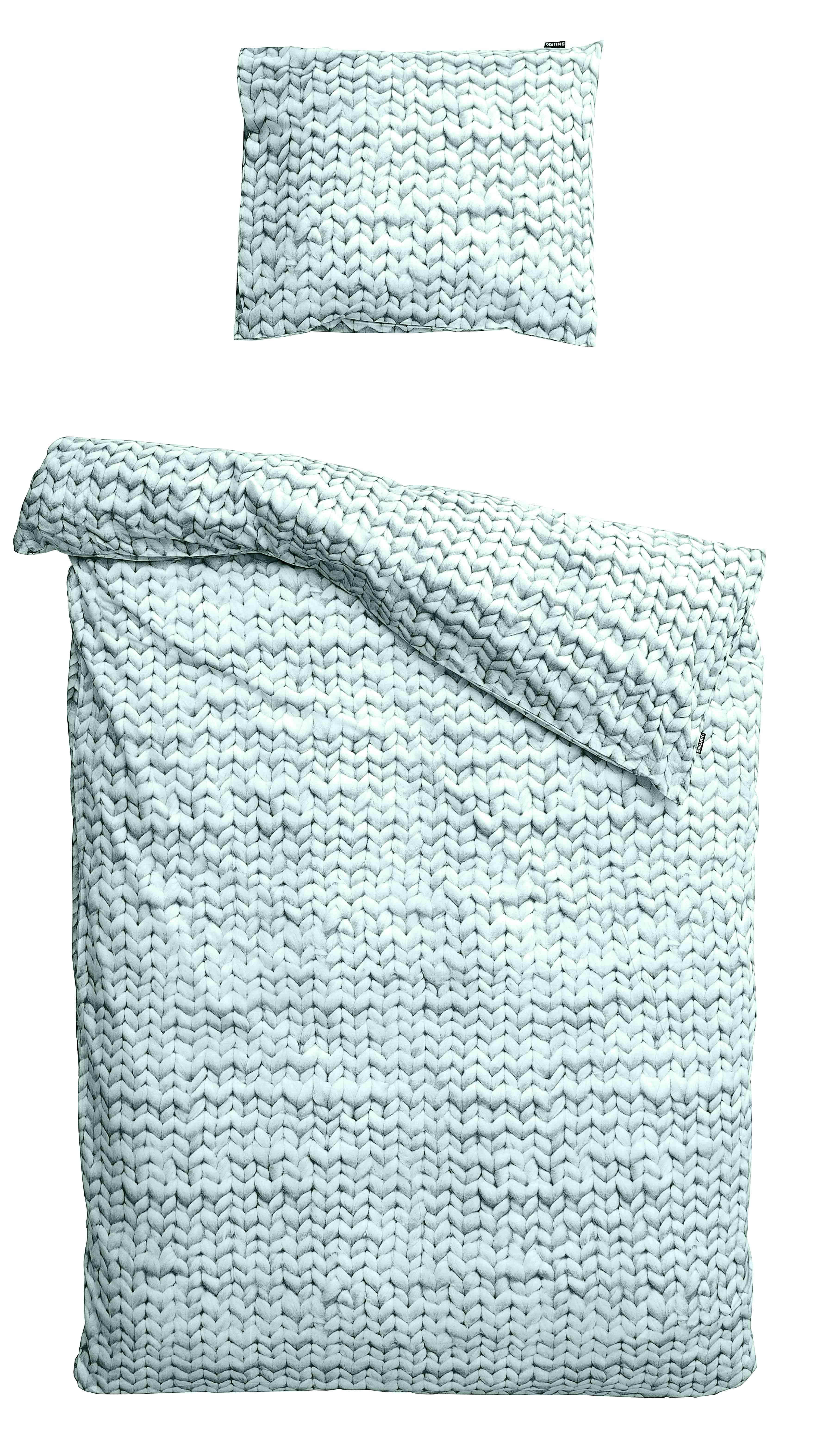 Купить Комплект постельного белья Косичка зеленый фланель 150х200, inmyroom, Нидерланды