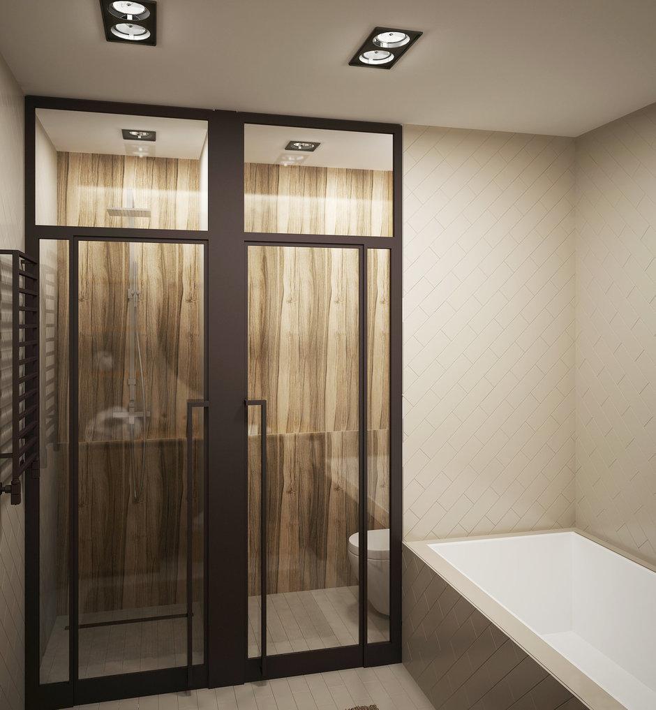 Фотография: Ванная в стиле Современный, Лофт, Квартира, Планировки, Проект недели, Сталинка – фото на InMyRoom.ru