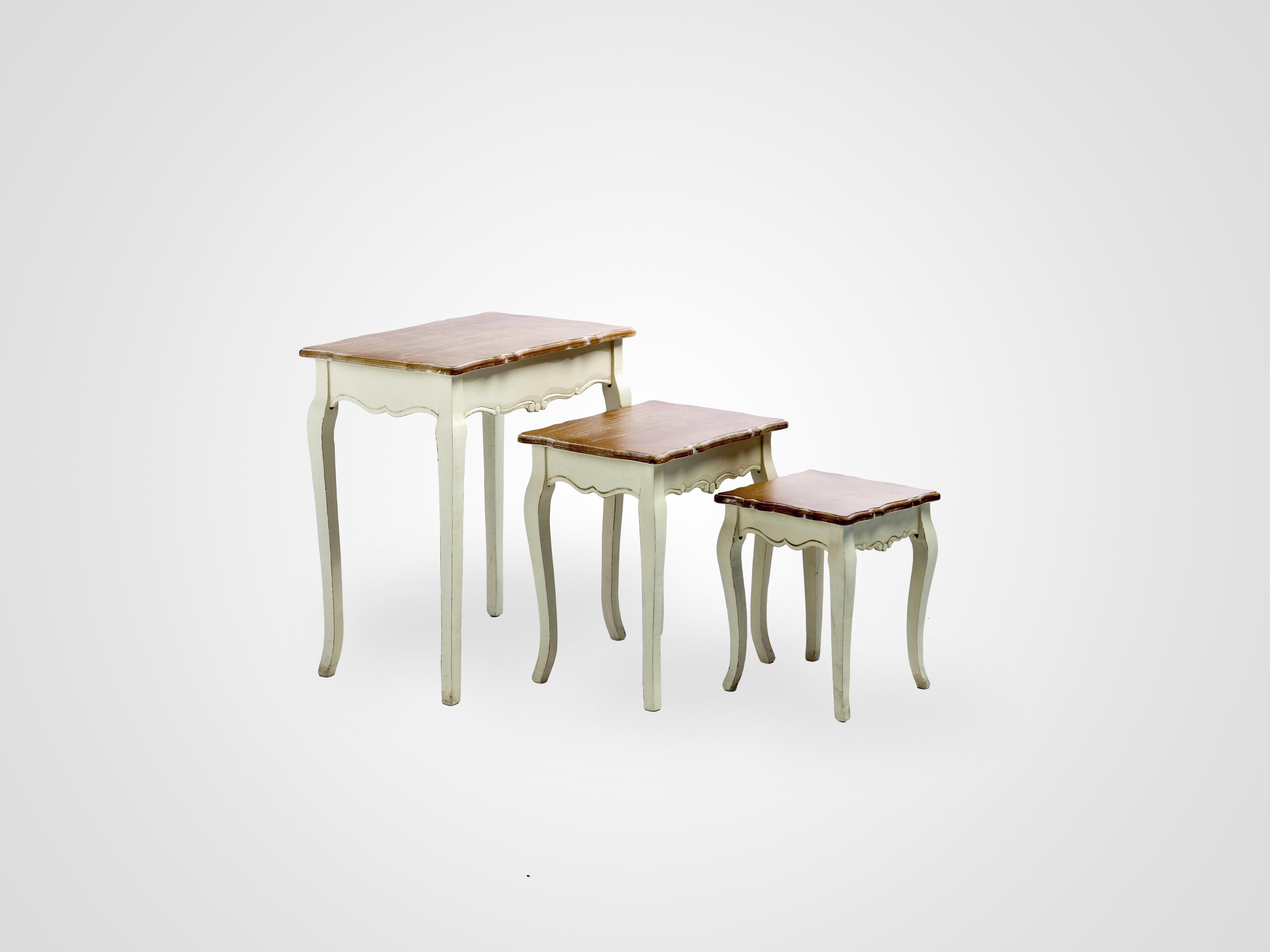 Купить Журнальные столики (комплект) из трех столиков в стиле прованс со старением, inmyroom, Китай