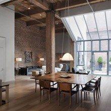Фотография: Кухня и столовая в стиле Лофт, Дизайн интерьера, Большие окна – фото на InMyRoom.ru