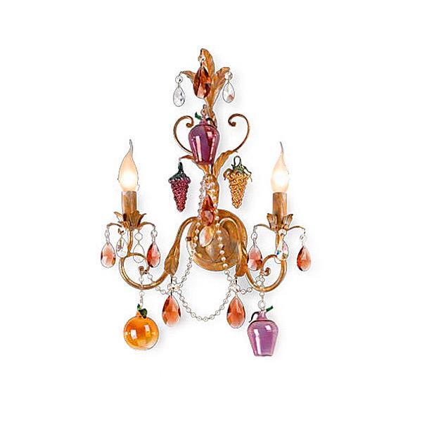 Бра Eurolampart Vandelia с цепями и кулонами из богемского хрусталя