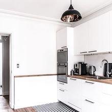 Фотография: Кухня и столовая в стиле Скандинавский, Советы, как зонировать студию, Марина Лаптева – фото на InMyRoom.ru