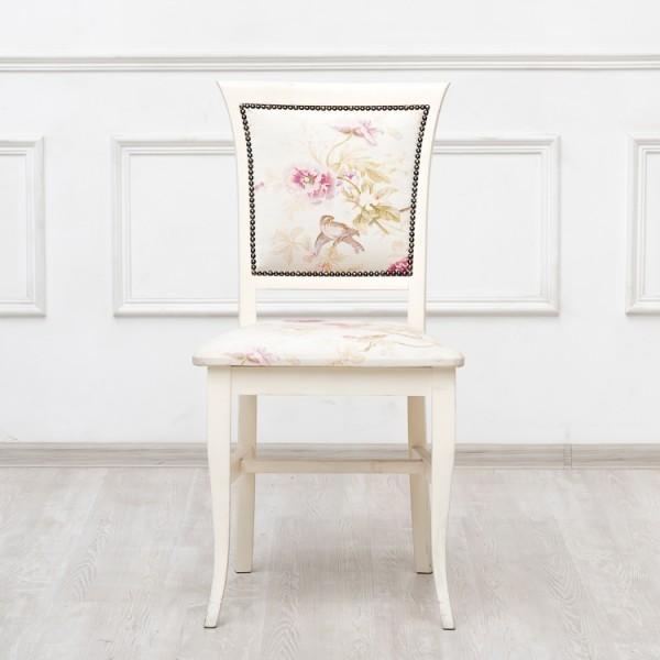 Купить Обеденный стул Provence из массива бука и ткани, inmyroom