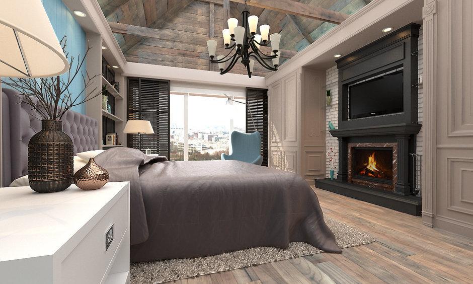 Фотография: Спальня в стиле Прованс и Кантри, Дом, Дома и квартиры, Шале – фото на InMyRoom.ru
