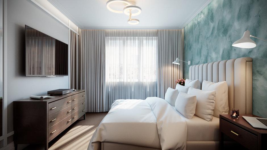 Фотография: Спальня в стиле Современный, Квартира, Проект недели, Co:Interior, 1 комната, 40-60 метров, Монолитно-кирпичный, ЖК «Новое Тушино» – фото на InMyRoom.ru