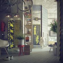 Фотография: Гостиная в стиле Лофт, Квартира, Дома и квартиры, Индустриальный – фото на InMyRoom.ru