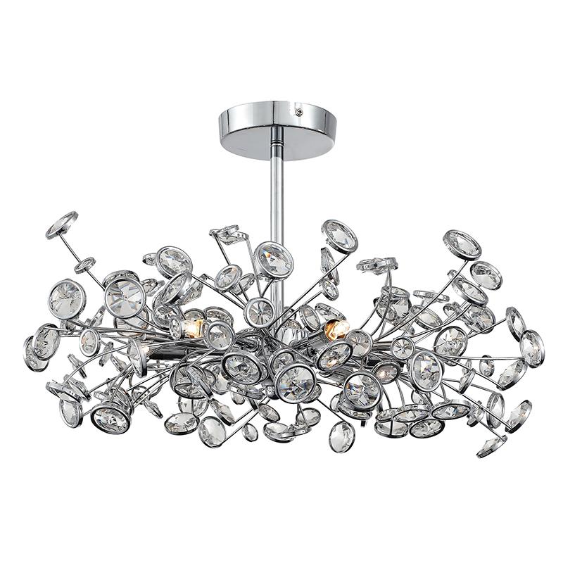 Купить Потолочная люстра st Luce Anello с хрустальными элементами, inmyroom, Италия