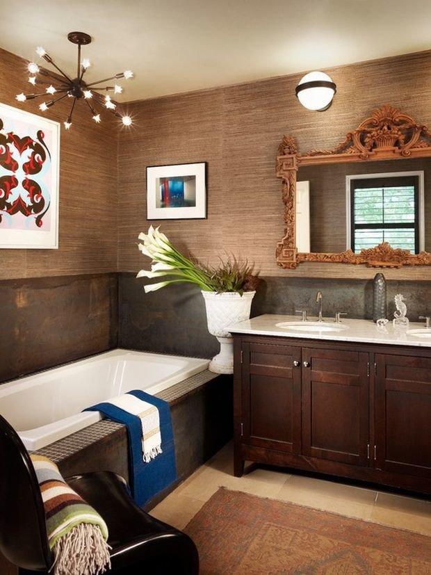 Фотография: Ванная в стиле Эклектика, Декор интерьера, Квартира, Дом, Декор – фото на INMYROOM