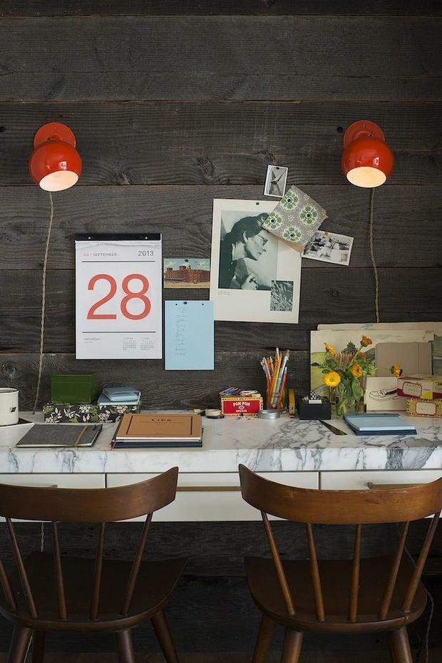 Фотография: Кабинет в стиле Прованс и Кантри, DIY, Аксессуары, Советы, хранение в прихожей, Хранение мелочей, лайфхаки для кухни – фото на InMyRoom.ru