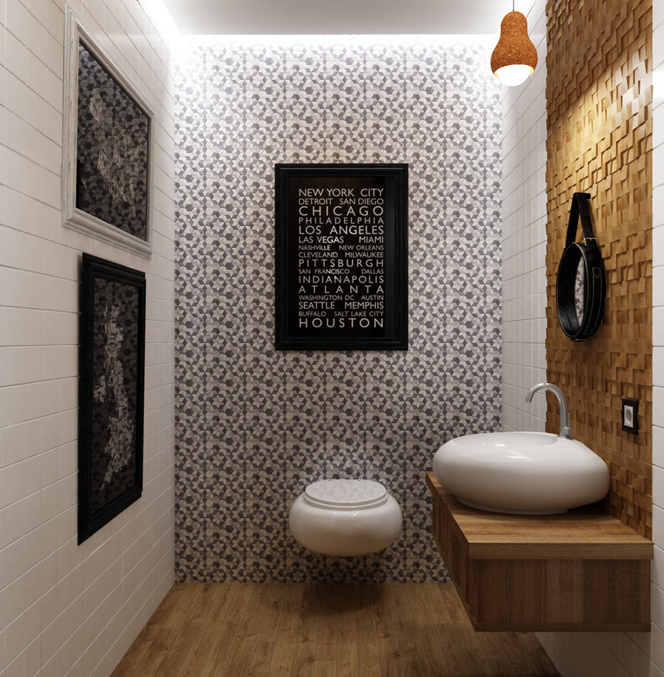 Фотография: Ванная в стиле Современный, Эко, Квартира, Проект недели – фото на InMyRoom.ru