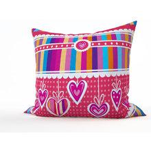 Дизайнерская подушка: Розовая полосатость