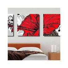 Модульная картина от дизайнера: Красный гибискус