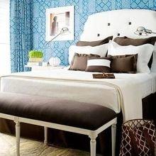 Фотография: Спальня в стиле Кантри, Декор интерьера, Дизайн интерьера, Цвет в интерьере, Советы, Коричневый – фото на InMyRoom.ru