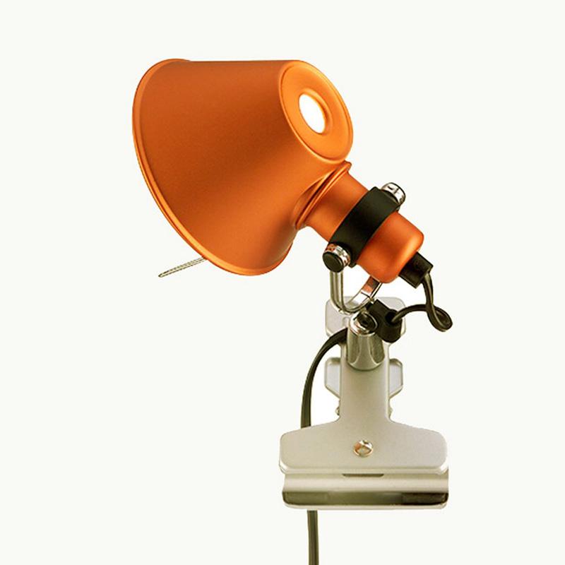 Купить Настенный светильник Artemide Tolomeo Micro Inc Pinza Arancio, inmyroom, Италия