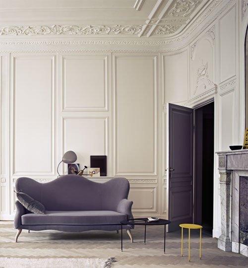 Фотография: Гостиная в стиле Эклектика, Декор интерьера, Декор дома, Стеновые панели – фото на InMyRoom.ru