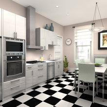 Фотография: Кухня и столовая в стиле Современный, Хай-тек, Интерьер комнат, Переделка – фото на InMyRoom.ru