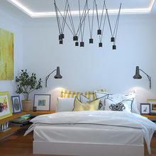 Фотография: Спальня в стиле Современный, Декор интерьера, Дом, Декор, Цвет в интерьере, Дома и квартиры, Средиземноморский, Греция – фото на InMyRoom.ru