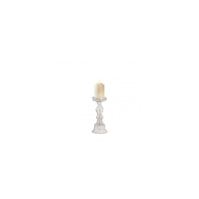 Подсвечник CLEAR GLASS CANDLE HOLDER - S