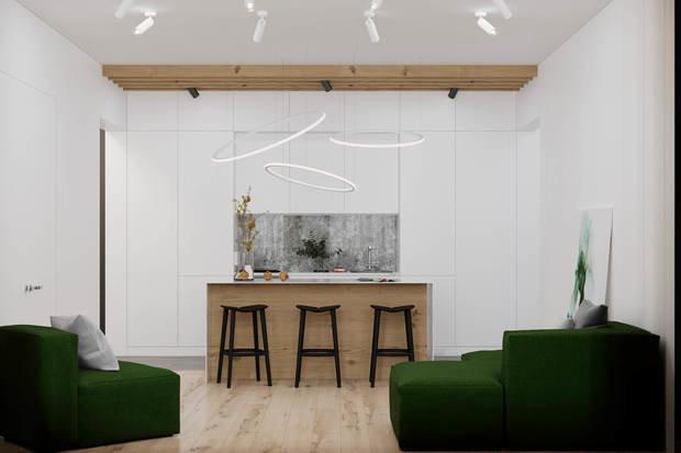 Фотография: Кухня и столовая в стиле Минимализм, Квартира, Проект недели, Geometrium, Более 90 метров, Kronospan – фото на INMYROOM