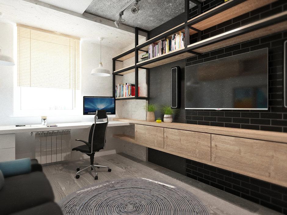 Фотография: Офис в стиле Лофт, Квартира, Дома и квартиры, IKEA, Проект недели, Cosmorelax – фото на InMyRoom.ru
