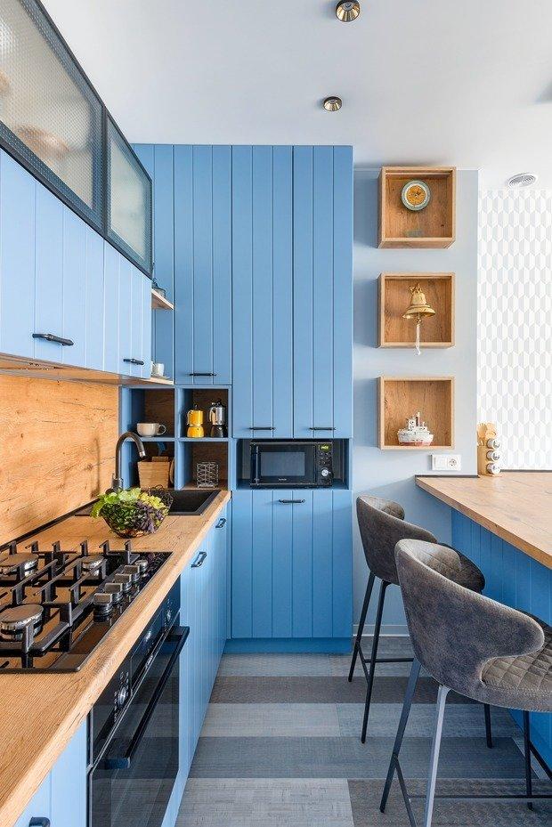 Фотография: Кухня и столовая в стиле Современный, Квартира, Проект недели, 2 комнаты, 40-60 метров, Светлогорск, Виктория Лазарева – фото на INMYROOM