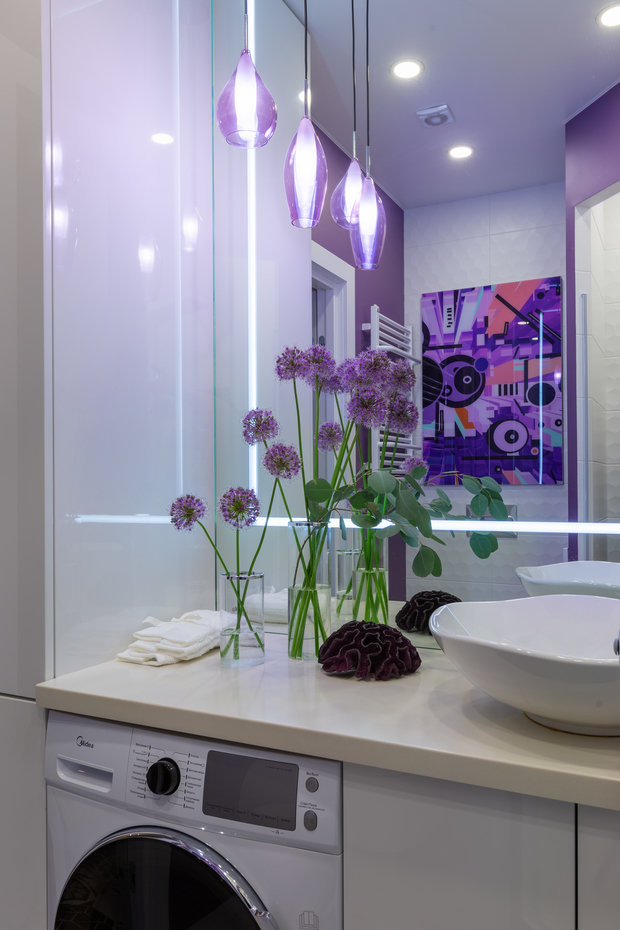 Фотография: Ванная в стиле Современный, Квартира, Проект недели, Москва, 1 комната, до 40 метров, 40-60 метров, Анастасия Бондарева – фото на INMYROOM