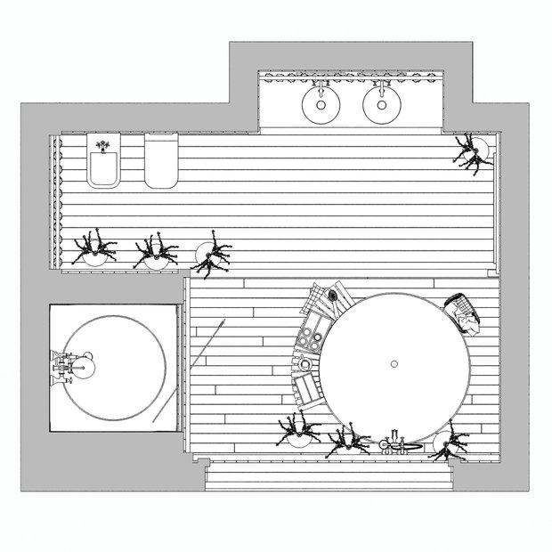 Фотография: Планировки в стиле , Ванная, Интерьер комнат, Проект недели – фото на INMYROOM