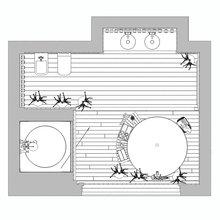 Фотография: Планировки в стиле , Ванная, Интерьер комнат, Проект недели – фото на InMyRoom.ru