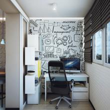 Фотография: Кабинет в стиле Современный, Балкон, Квартира, Советы – фото на InMyRoom.ru