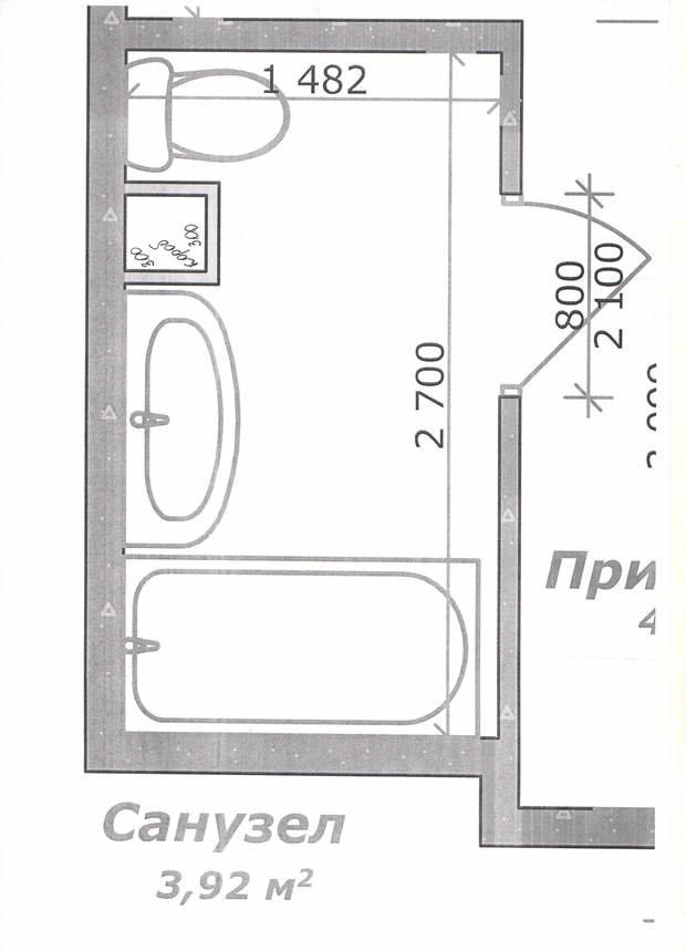 Помогите расставить мебель в ванной