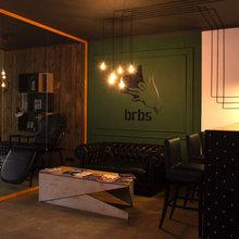 Фото из портфолио Барбершоп BRBS – фотографии дизайна интерьеров на InMyRoom.ru