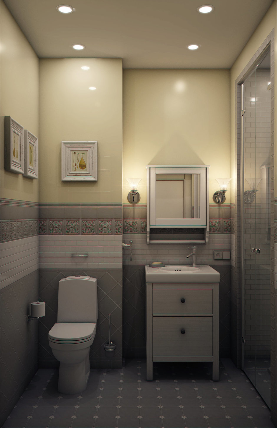 Фотография: Ванная в стиле Классический, Эклектика, Квартира, Проект недели, Марина Саркисян, Подмосковье – фото на InMyRoom.ru