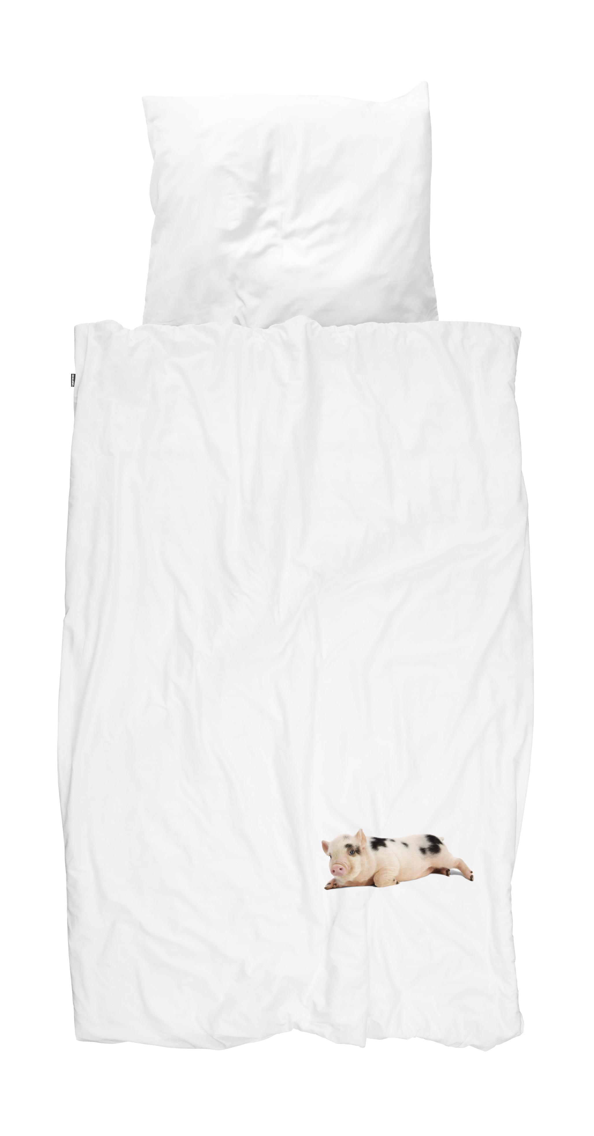 Купить Комплект постельного белья поросенок белый 150х200, inmyroom, Нидерланды
