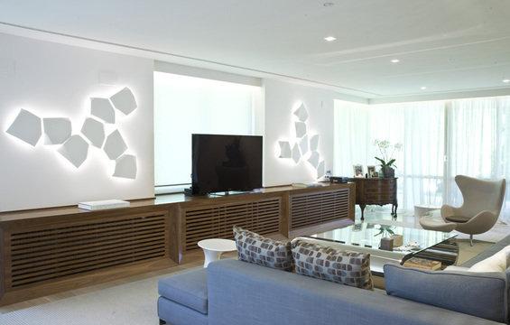 Фотография: Гостиная в стиле Классический, Современный, Дом, Дома и квартиры – фото на InMyRoom.ru