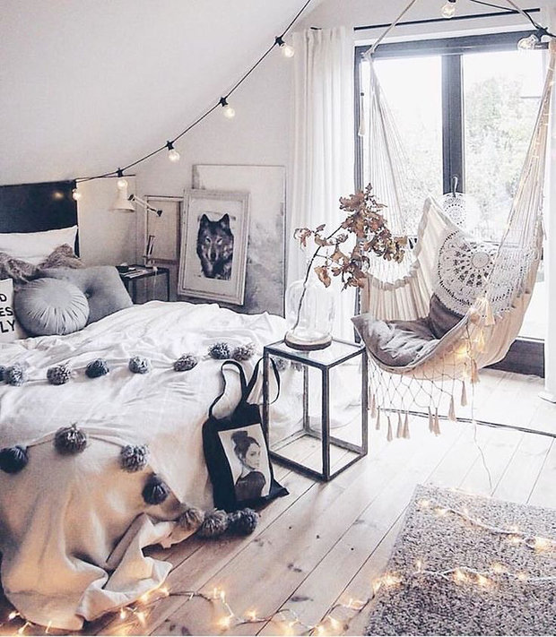 Фотография: Спальня в стиле Скандинавский, Декор интерьера, Дача, Дом и дача – фото на InMyRoom.ru