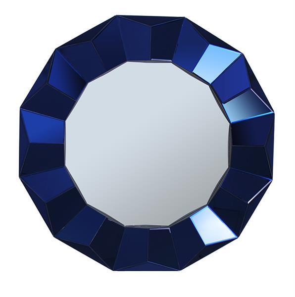 Купить Настенное зеркало Krona в раме синего цвета, inmyroom, Китай