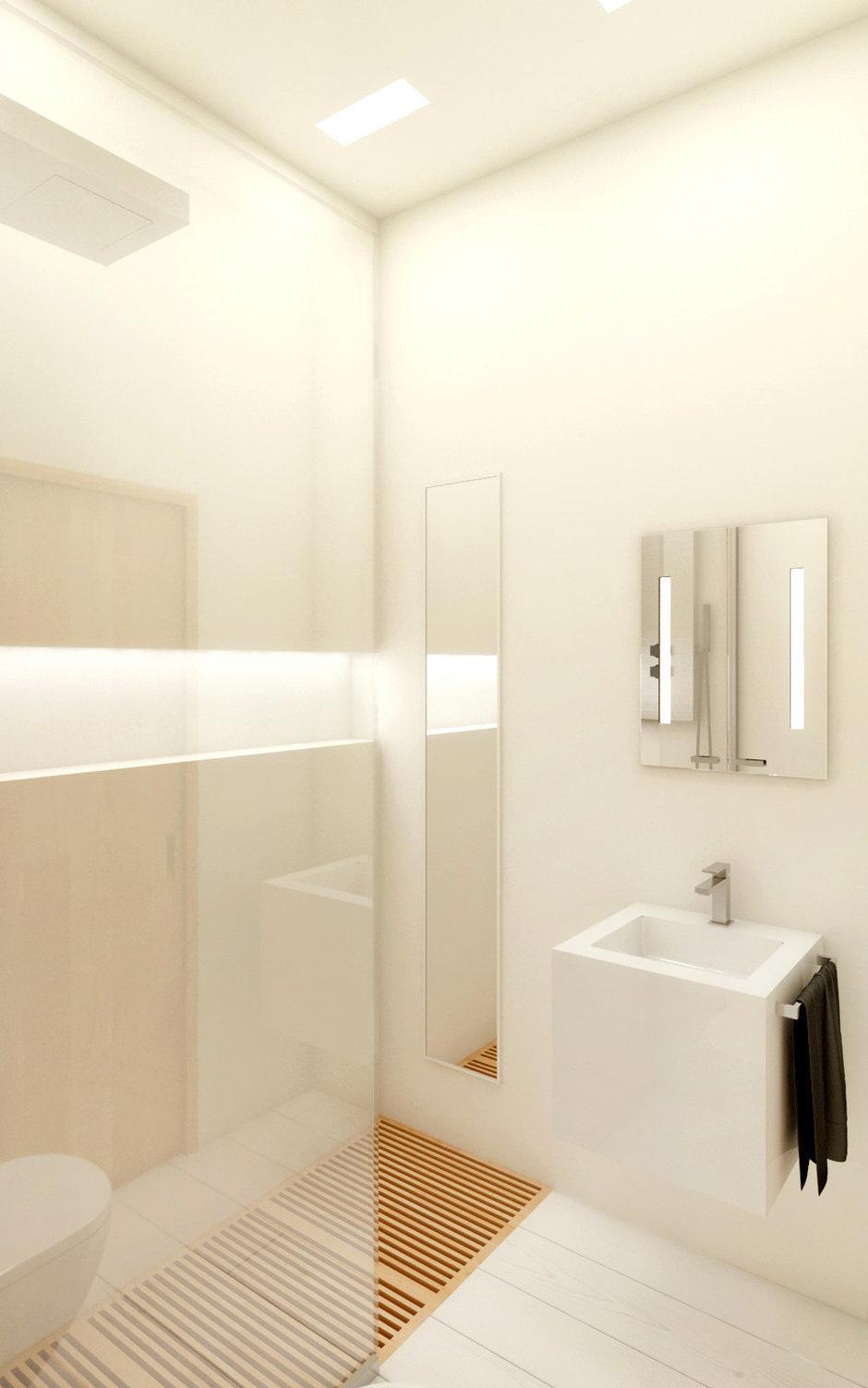 Фотография: Ванная в стиле Современный, Квартира, Дома и квартиры, Минимализм, Проект недели – фото на InMyRoom.ru