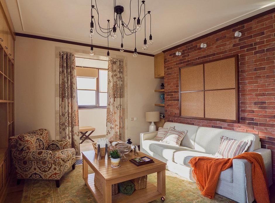 Фотография: Гостиная в стиле Прованс и Кантри, Лофт, Квартира, Дома и квартиры – фото на InMyRoom.ru