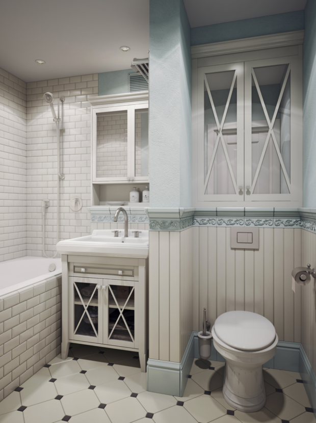 Фотография: Ванная в стиле Прованс и Кантри, Советы, маленькая ванная – фото на InMyRoom.ru