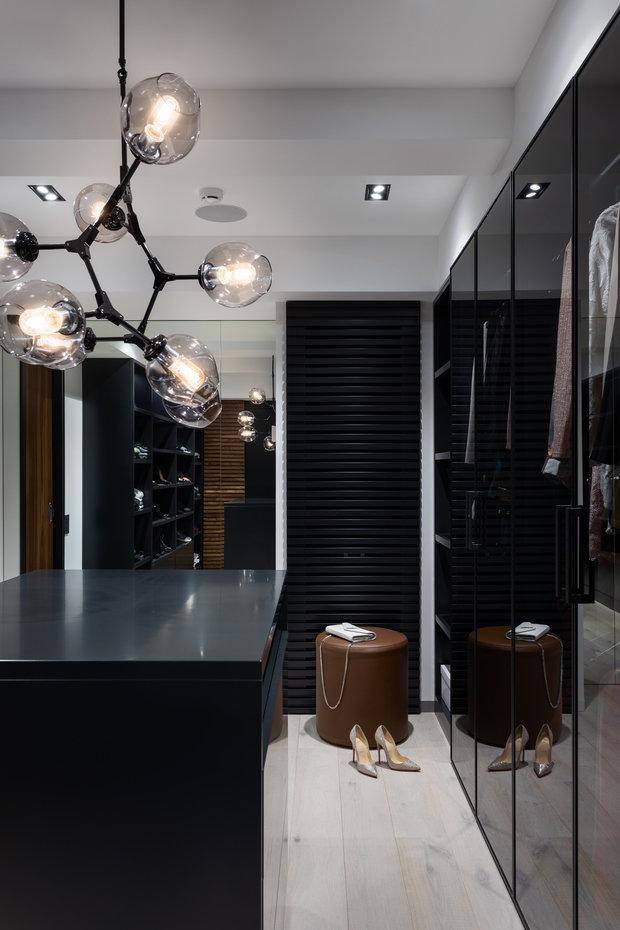 Фотография: Гардеробная в стиле Современный, Лофт, Квартира, Проект недели, Москва, GM-Interior, 3 комнаты, Более 90 метров – фото на INMYROOM