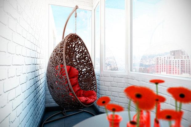Фотография: Балкон, Терраса в стиле Лофт, Квартира, Дома и квартиры, Проект недели – фото на INMYROOM