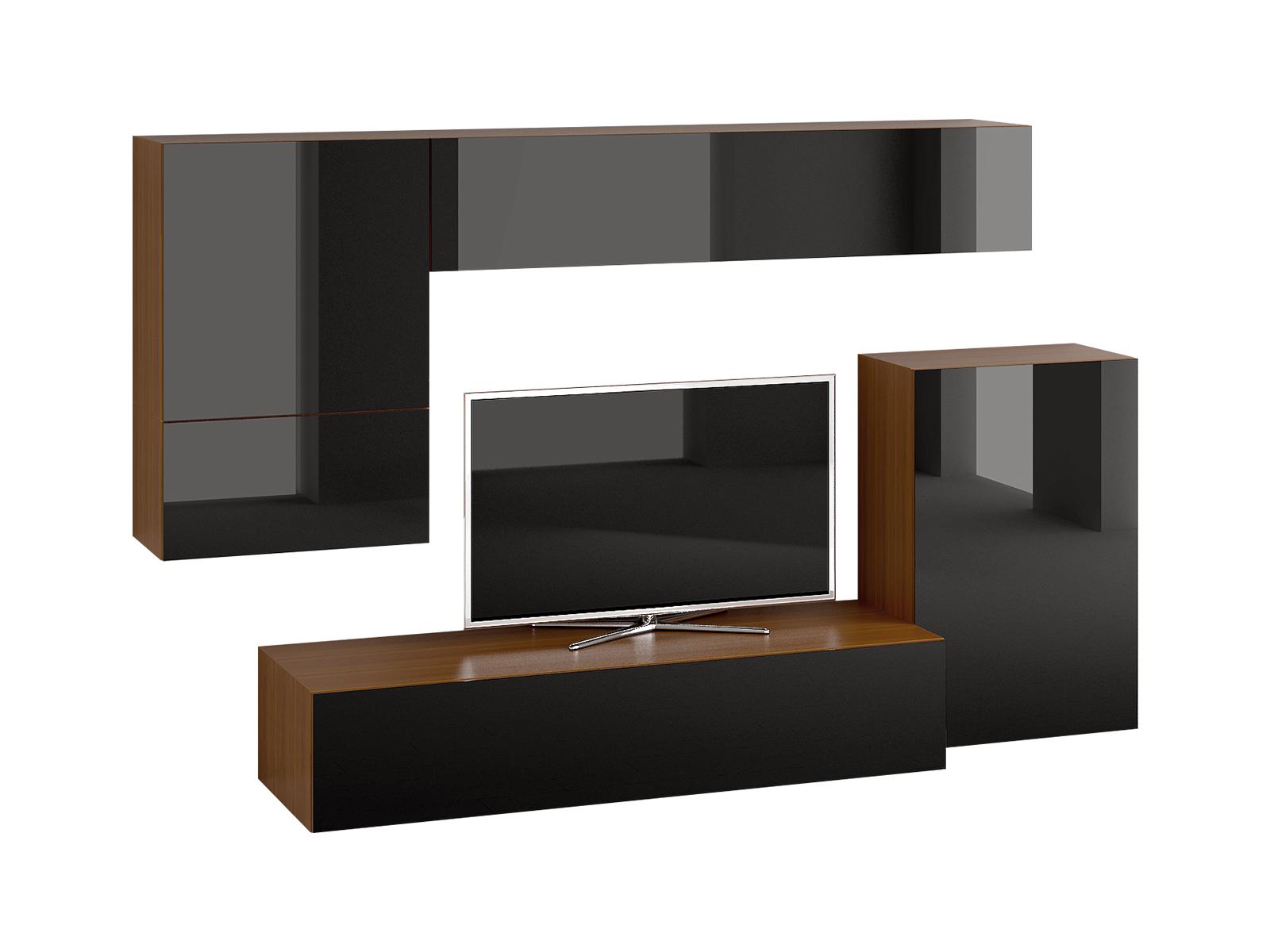 Композиция Cubo 20 со стеклом на фасадах черного цвета