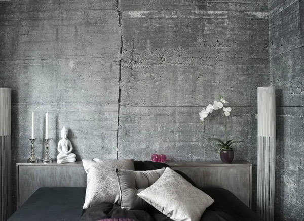 Фотография: Спальня в стиле Лофт, Декор интерьера, Дизайн интерьера, Цвет в интерьере, Серый – фото на InMyRoom.ru
