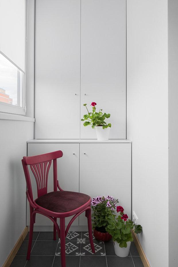 Фотография: Балкон в стиле Современный, Квартира, Советы, Проект недели, Москва, 1 комната, до 40 метров, Living Art Design, Наталия Суслина – фото на INMYROOM