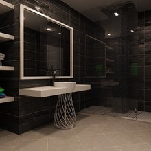 Фотография: Ванная в стиле Современный, Эклектика, Квартира, Дома и квартиры, Минимализм – фото на InMyRoom.ru