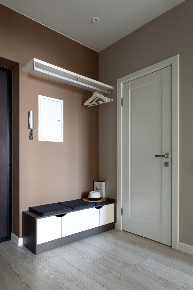 Фотография: Прихожая в стиле Современный, Квартира, Проект недели, 1 комната, 40-60 метров, Анна Иноземцева – фото на INMYROOM