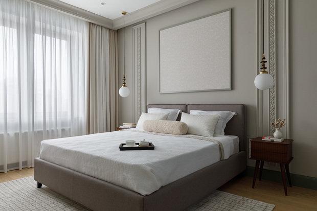 Фотография: Спальня в стиле Современный, Квартира, Проект недели, Санкт-Петербург, 2 комнаты, 40-60 метров, Маргарита Сивухина – фото на INMYROOM
