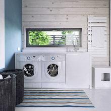 Фото из портфолио Уютный минимализм в доме из бруса от студии INT2 – фотографии дизайна интерьеров на INMYROOM
